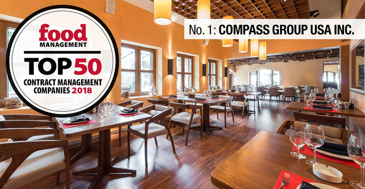 FM Top 50 2018: 1  Compass Group USA Inc  | Food Management