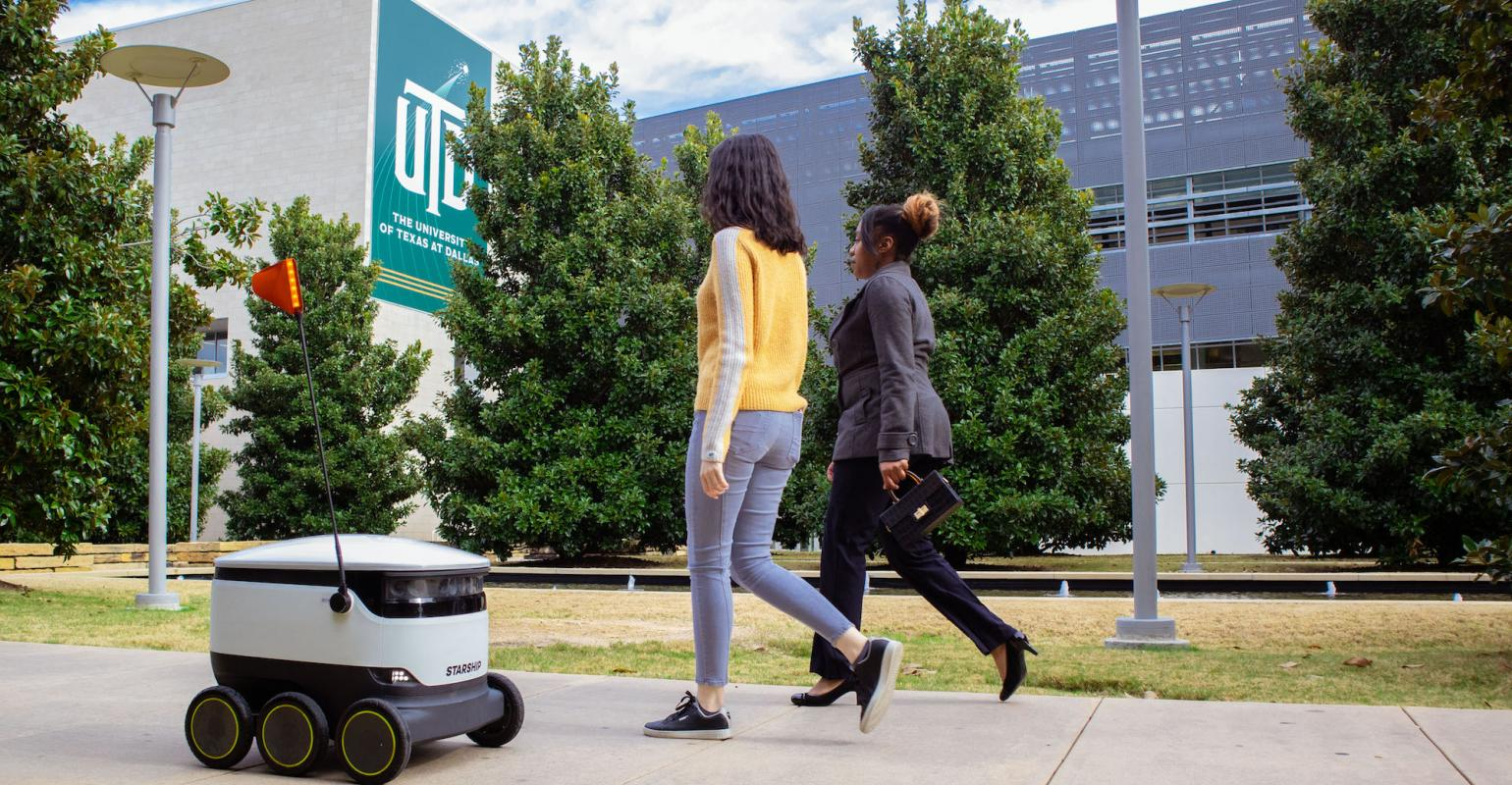 Robots deliver meals from 10 campus restaurants at the UT ...