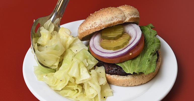 Every Friday the hospitals serve a local, grass-fed burger.