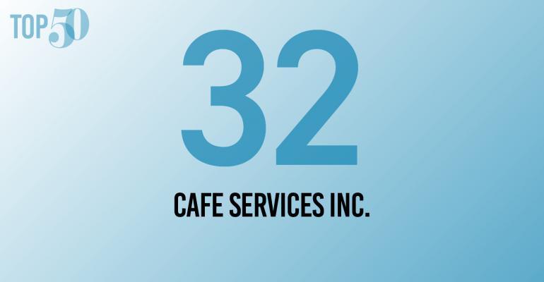 Food Management Top 50 logo 32. Cafe Services Inc.