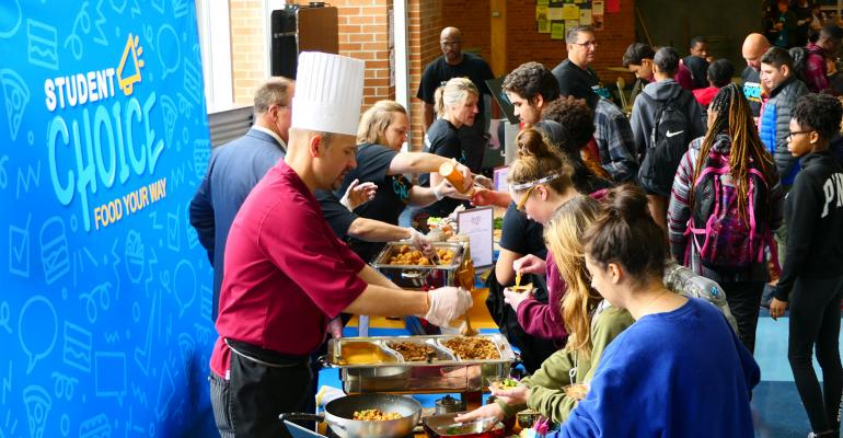 Chartwells give K-12 students the vote on trendy menu items