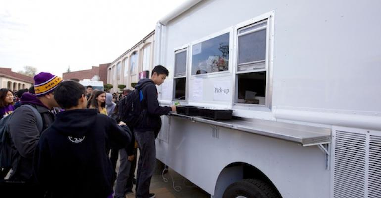A student gets lunch from one of Fremont Union39s food trucks All images courtesy of Fremont Union High School District