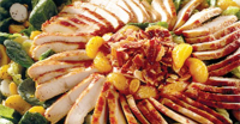 Teriyaki Chicken and Fruit Salad