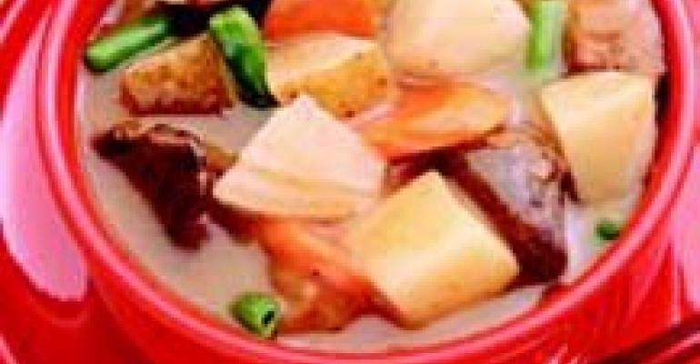 Beef Stew with Potatoes and Onions