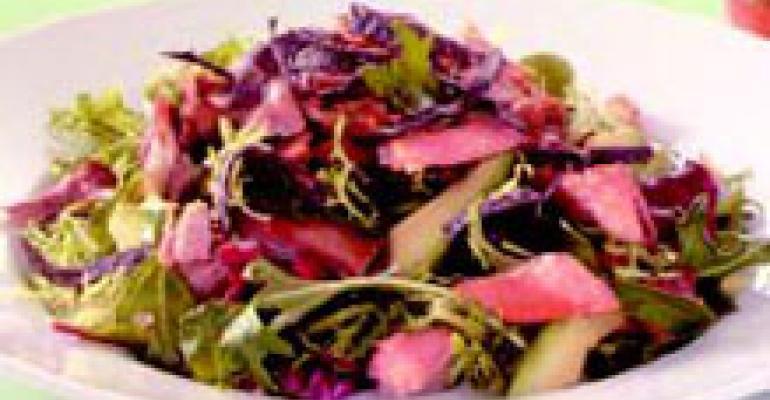 Turkey Carnitas Mesclun Salad with Tangerine Vinaigrette