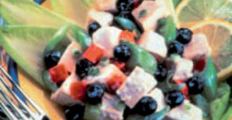 Lemon Blueberry and Chicken Salad