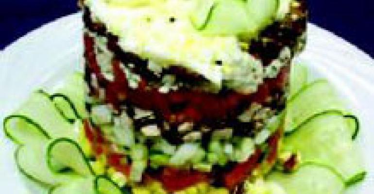 Multi-Layered Stacked Cobb Salad