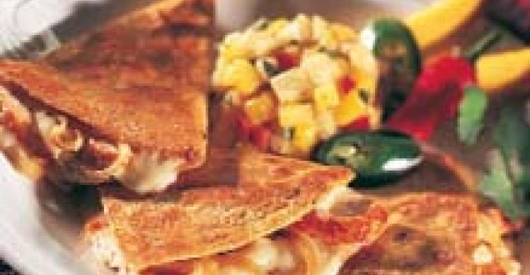 Wisconsin Brie and Chicken Quesadillas