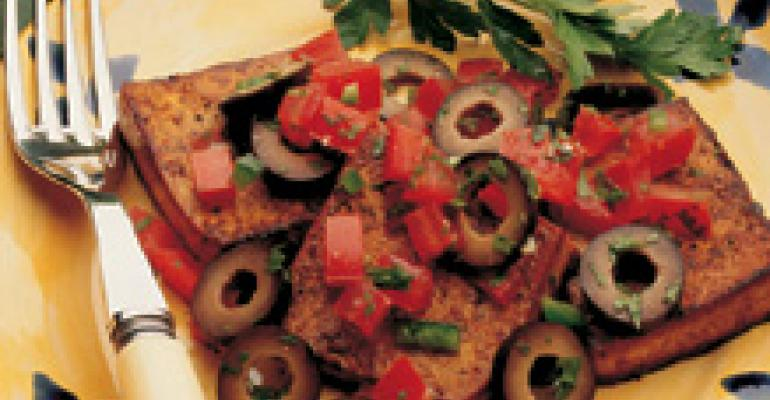 Seared Moroccan Tofu with Olives