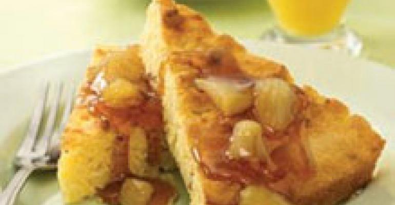 Apple Sausage Corn Pancakes