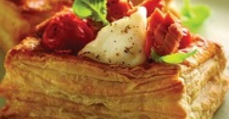 Wild Salmon, Mozzarella and Roasted Tomato Tarts