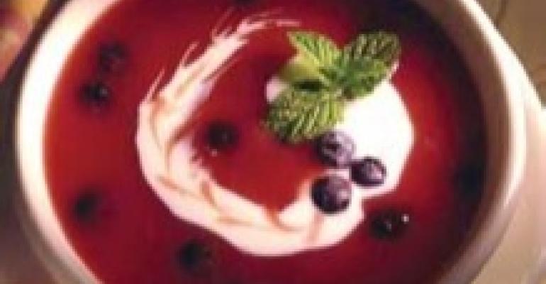 Blender Blueberry Soup