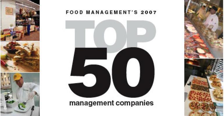 Food Managements 2007 Top50 management companies 1-10