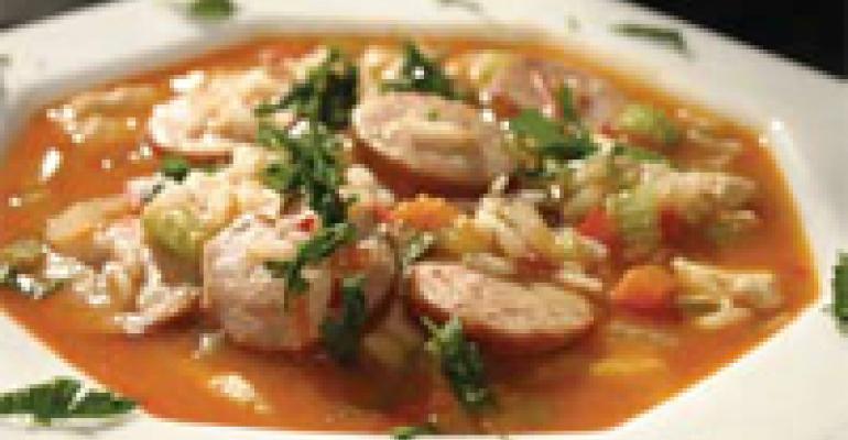 Chicken Jambalaya with Chili Garlic Sauce