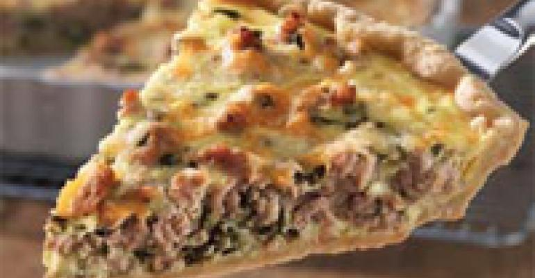 Deep-Dish Turkey Sausage and Poblano Quiche