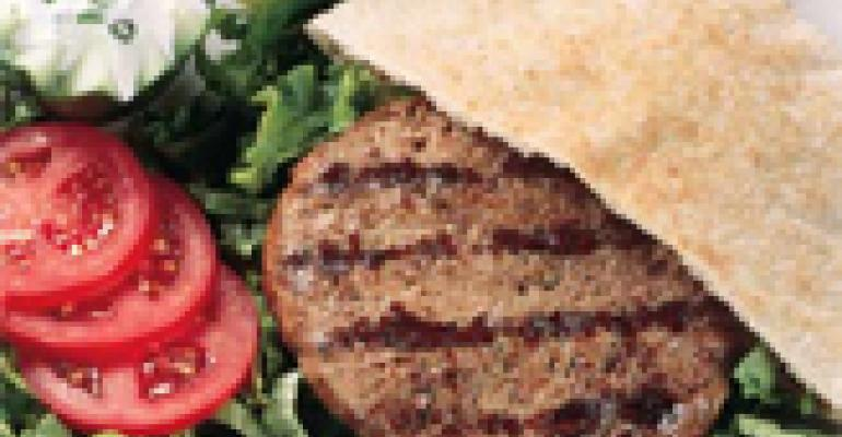 Gyro-Burger with Yogurt Sauce