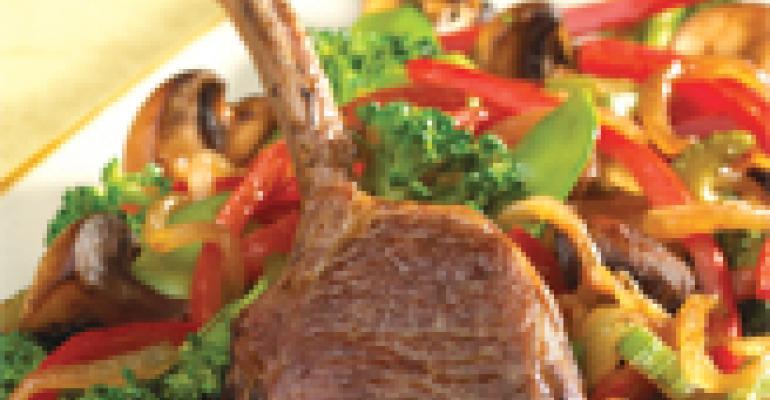 Pacific Rim Lamb Rib Chops with Stir-Fry