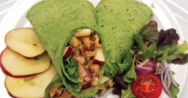 Chicken, Lentil, Apple and Curry Wraps