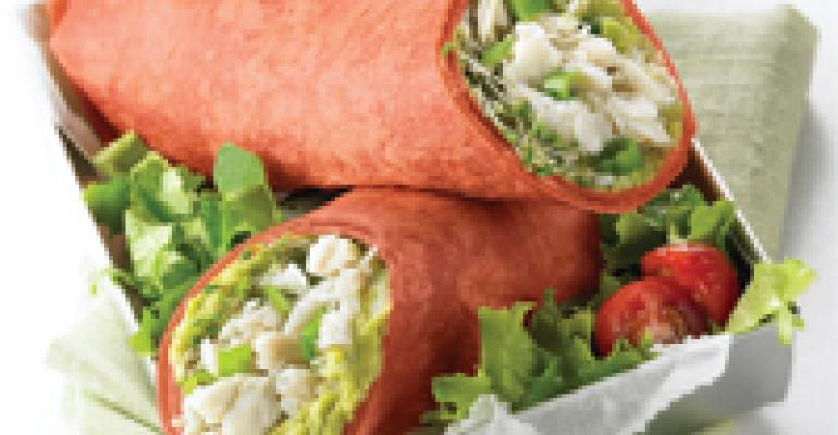 Easy California Crab Wraps