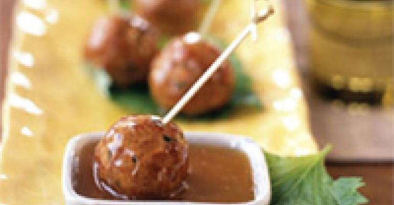 Meatballs in Plum Sauce