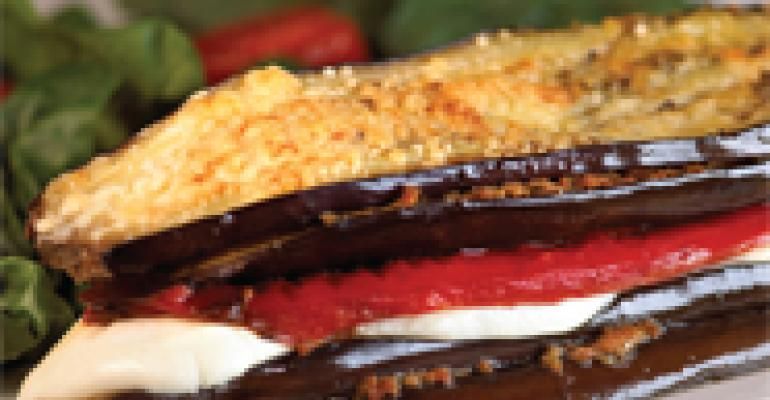 "Grilled Eggplant ""Lasagna"" Stacks"