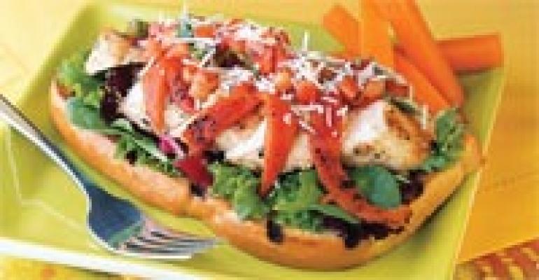 Deli Chicken Bruschetta Knife & Fork Sandwich