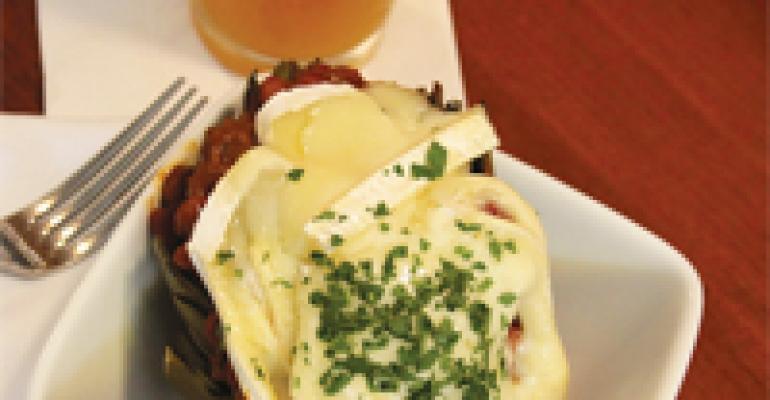 Chili-Stuffed Artichoke with Brie