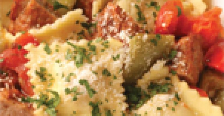Italian Ravioli & Sausage Stew