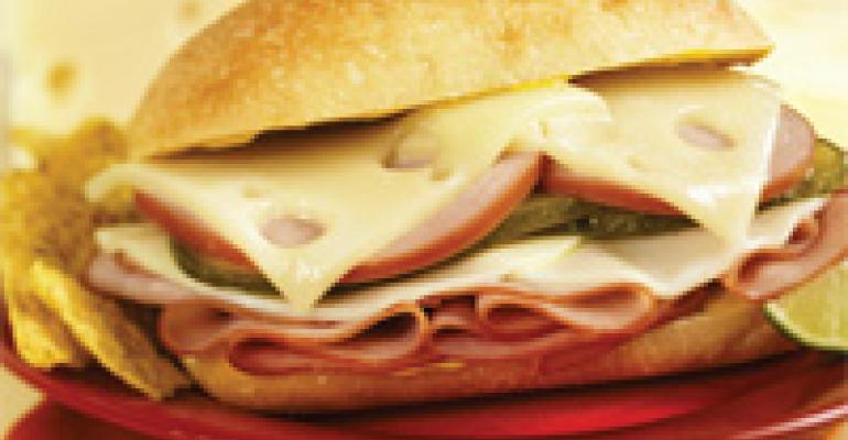 New Cuban Ham, Canadian Bacon & Wisconsin Cheese Sandwich