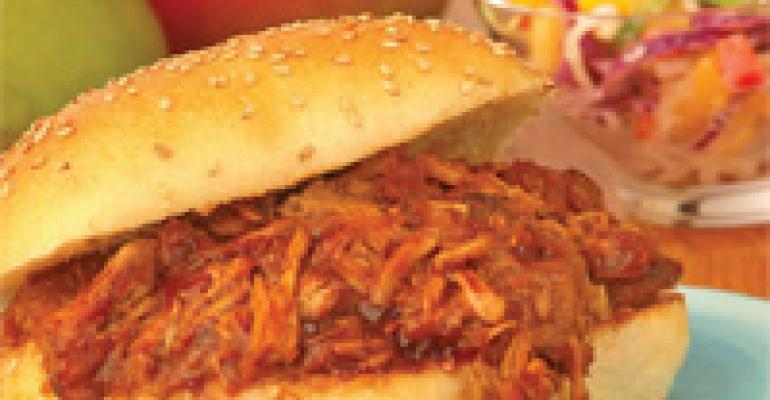 Pulled Pork Sandwich with Mango Barbecue Sauce