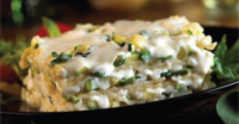 Lasagna with Mozzarella & Creamed Zucchini