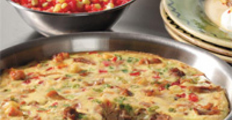Turkey Frittata Hash with Red Pepper Corn Relish