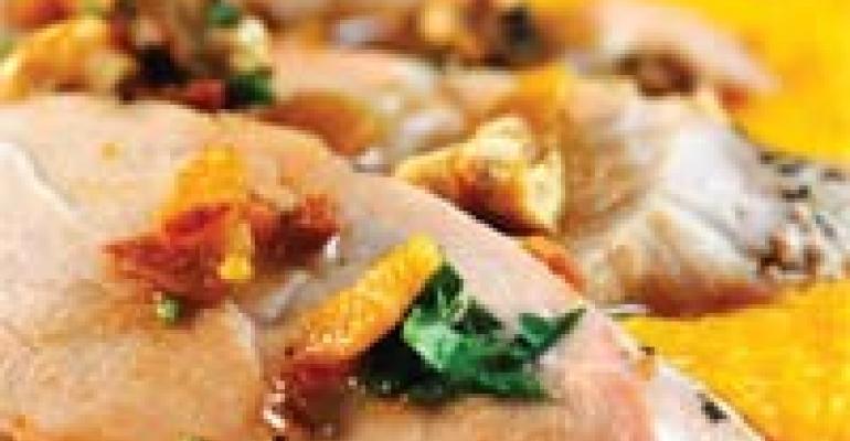 Spicy Roast Pork with Sweet Potato Polenta