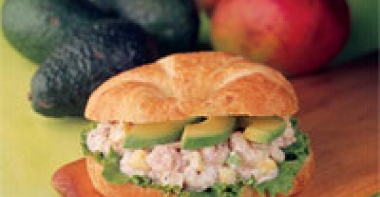 Deli Mango Shrimp Salad Croissant