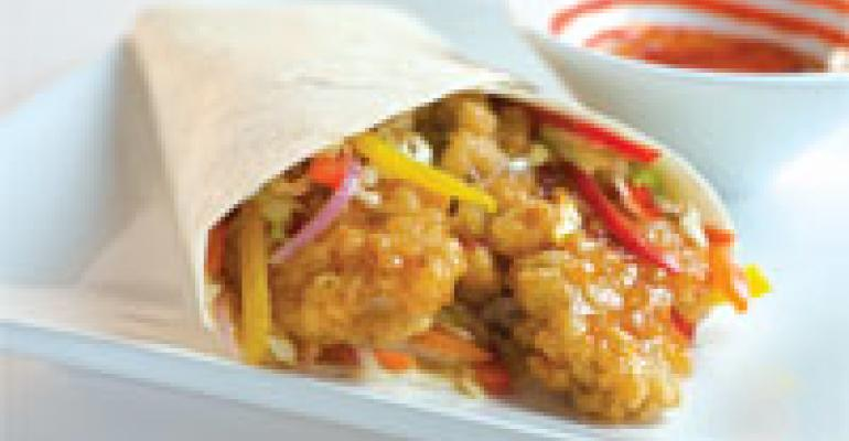 Crispy Orange Chicken Wrap