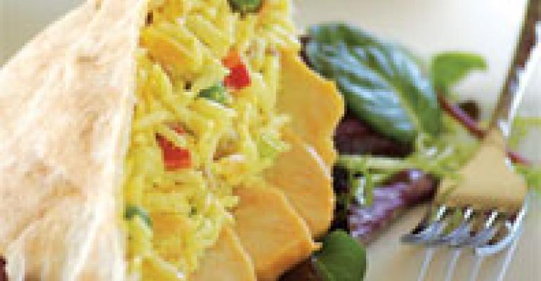 Turkey & Curried-Rice Stuffed Pitas