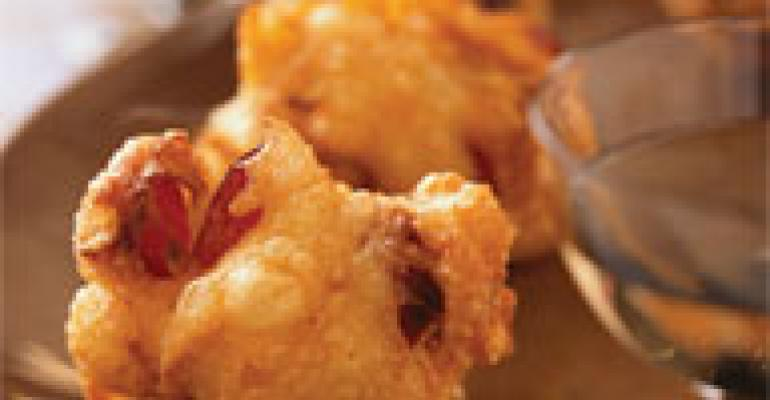 Grape and Brie Fritters