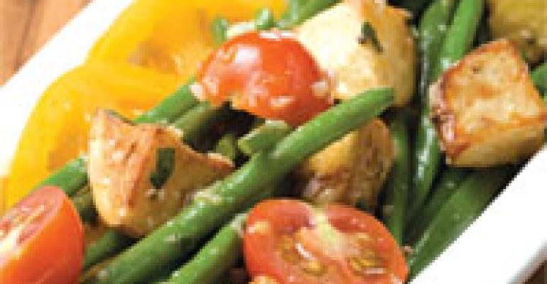 Roasted New Potato and French Green Bean Salad