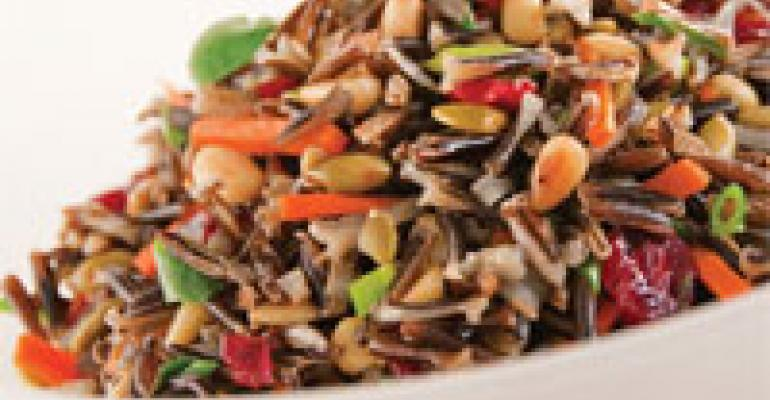 Wild-Rice Salad with Spiced Pepitas, Sun-Dried Cranberries and Apple-Cider Vinaigrette