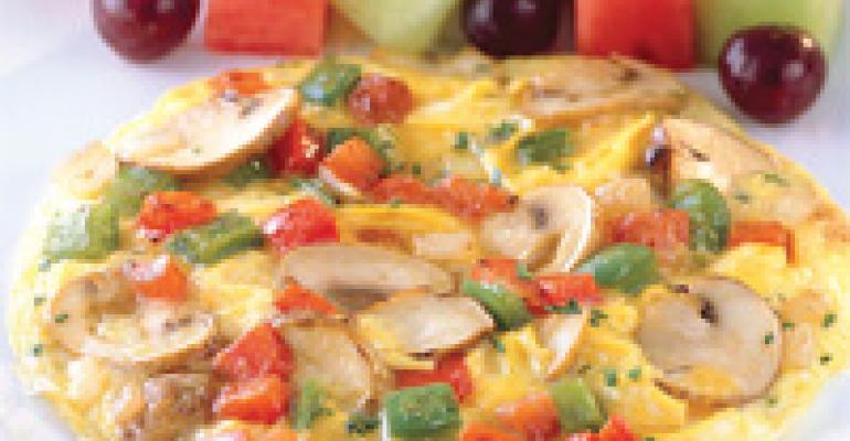 Vegetable Frittata Omelet with Fruit