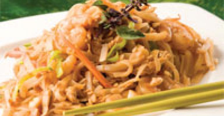 Stir Fry Shrimp, Pad Thai