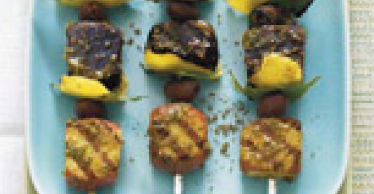 Moroccan Grilled Potato Skewers