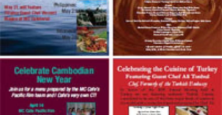 FM 2010 Best Concept Awards Best Menu: Restaurant Associates MC Café at the World Bank