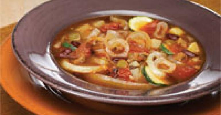 Portuguese Sausage and Onion Stew