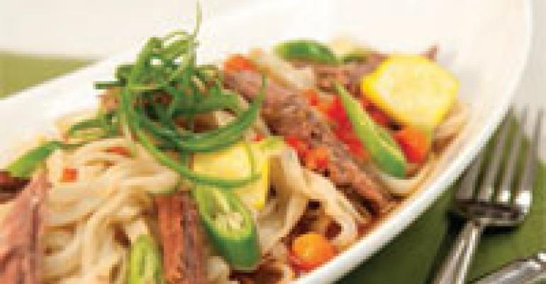 Vietnamese Pho Noodle Soup with Tender Beef