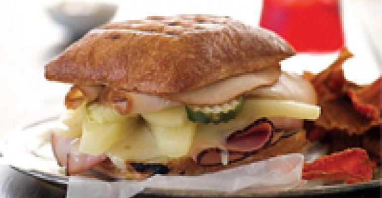 Grilled Pear Cubano