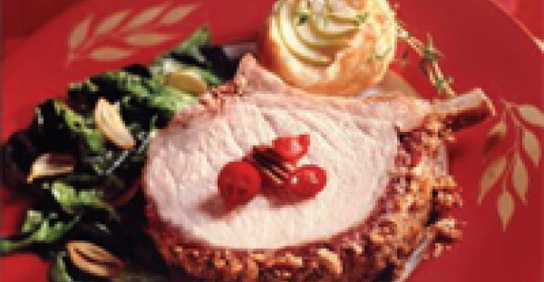 Cranberry & Pecan-Crusted Rack of Pork