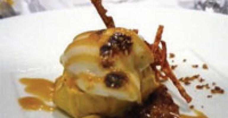 Sweet Potato Gelato with Marshmallow Cream