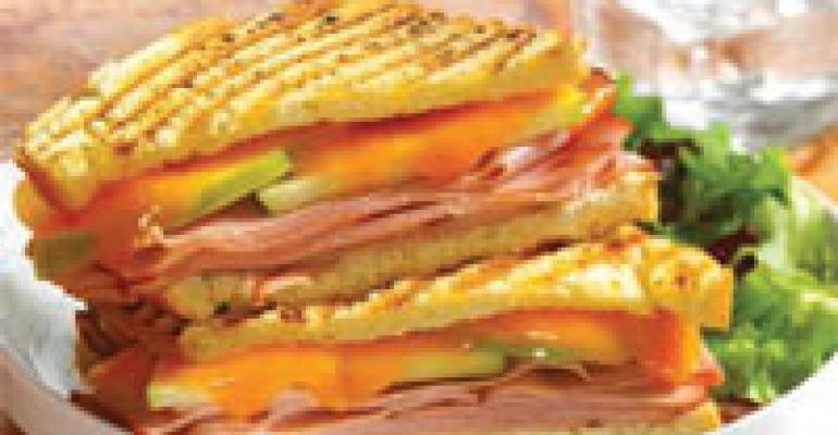 Apple, Ham and California Cheddar on Sourdough