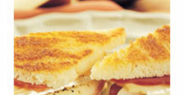 Brie, Ham and Pear Panini